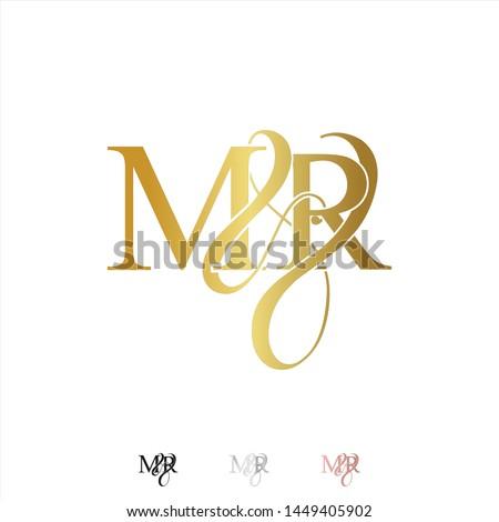 M & R / MR logo initial vector mark. Rose gold. gold. silver color. Stock fotó ©