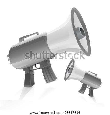 m-16 rifle loudspeaker, megaphone machine gun, automatic weapon bullhorn