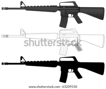 m16 set on a white background