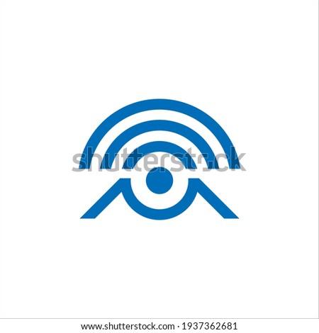 M signal logo design vector sign Zdjęcia stock ©