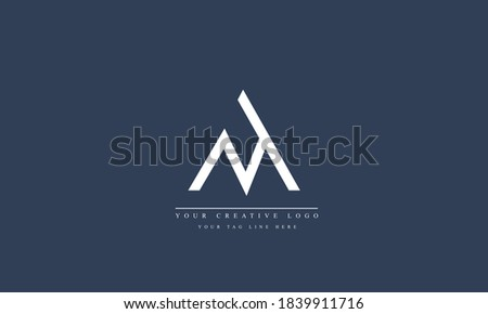 MA AM M A abstract vector logo monogram template Stok fotoğraf ©