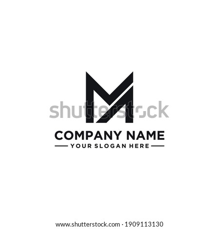 MA letter logo design idea. Masculine, abstract, simple, strong and bold. Suitable for construction, but also for other businesses. Stok fotoğraf ©