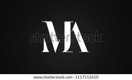 MA Letter Logo Design Template Vector Stok fotoğraf ©