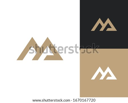 MA. Monogram of Two letters M&A. Luxury, simple, minimal and elegant MA logo design. Vector illustration template. Stok fotoğraf ©