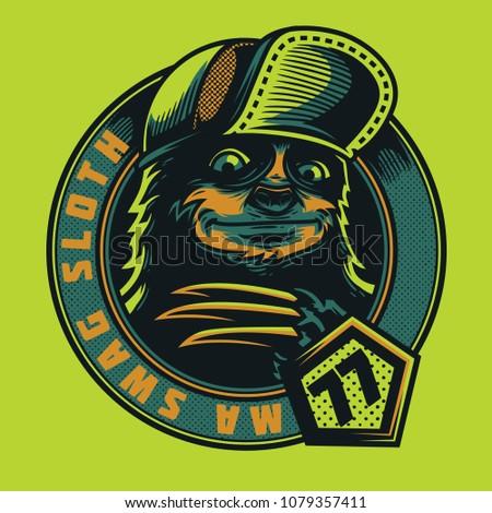ma swag sloth illustration