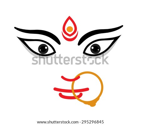 maa durga face expression