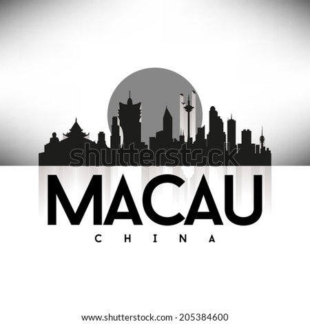 macau china  black skyline