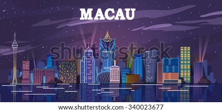 macau  china skyline at the