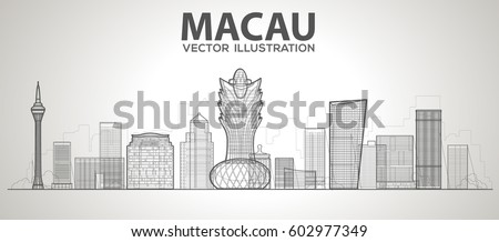 macau  china  skyline with
