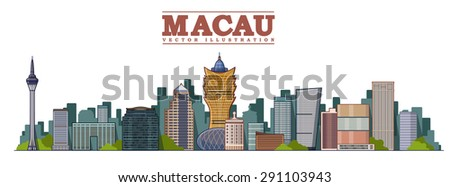 macau city  china vector