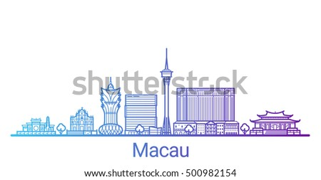 macau city colored gradient