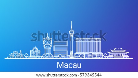 macau city white line on