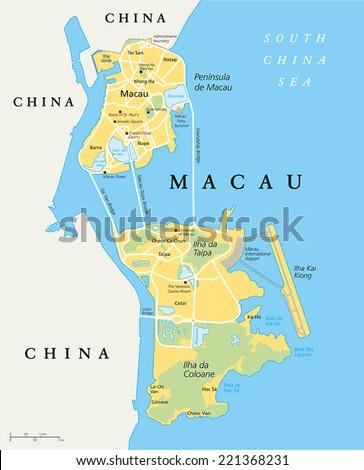 macau political map special