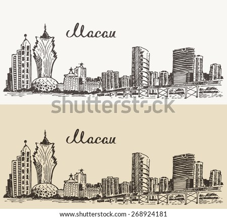 macau skyline  big city