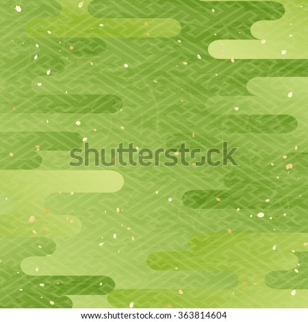 maccha color japanese pattern