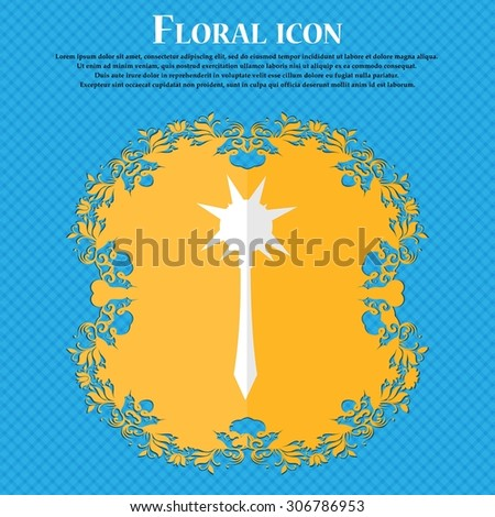 mace floral flat design on a