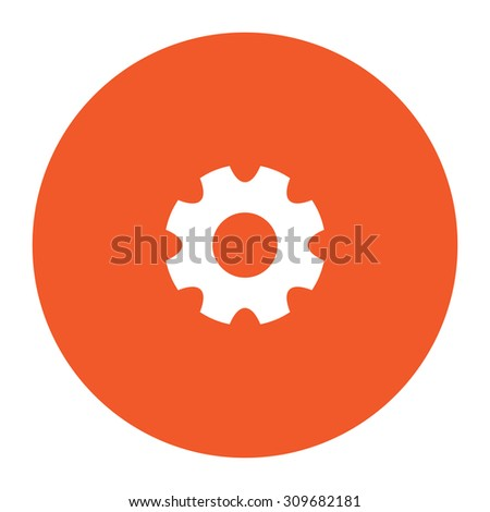 machine gear flat white symbol