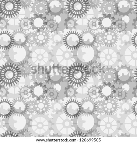 Machine Gear Wheel Cogwheel seamless pattern, EPS10 Vector background