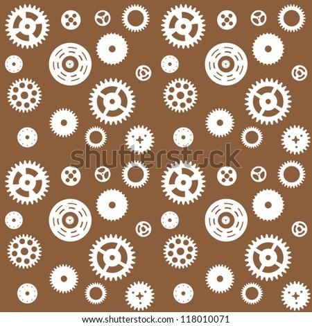 Machine Gear Wheel Cogwheel seamless pattern. Vector illustration. EPS 10