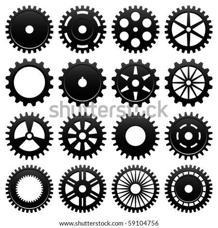 Machine Gear Wheel Cogwheel Vector - stock vector