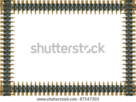 Machine Gun Ammo Belt Stock Vector Machine Gun Belt