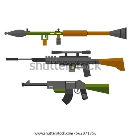 machine gun sniper rifle vector
