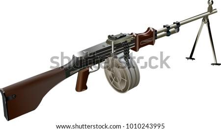 machine gun vector illustration
