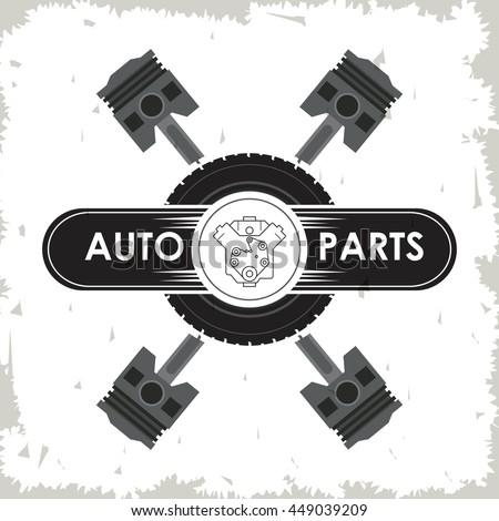 Machine icon. Auto part design. Vector graphic