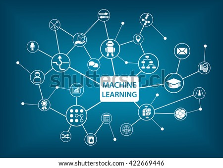 Machine learning concept vector illustration