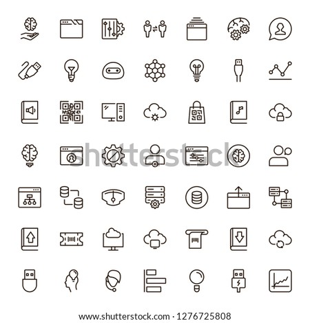 Machine learning icon set. Collection of high quality black outline logo for web site design and mobile apps. Vector illustration on a white background. #1276725808