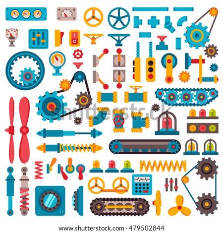 machine parts different