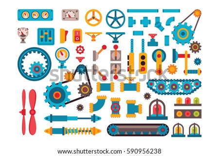 machine parts gears different