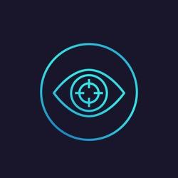 Machine vision, visual recognition icon