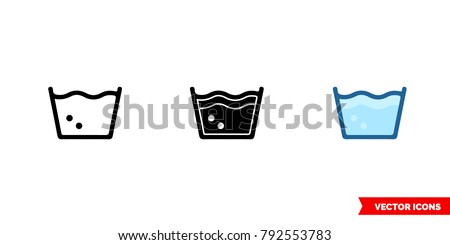 Laundry White Outline Icons - Download Free Vectors, Clipart