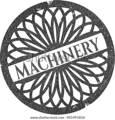 Machinery emblem drawn in pencil