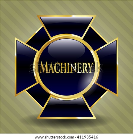 Machinery golden emblem