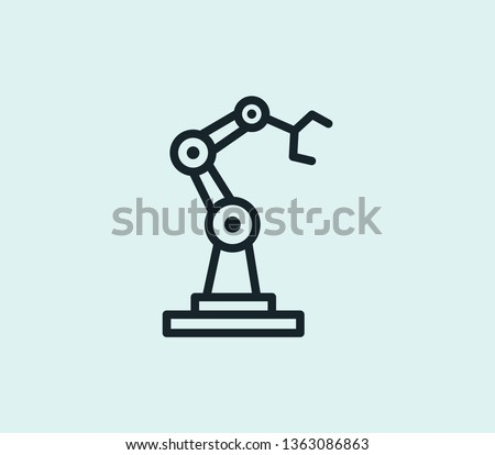 Machinery prod icon line isolated on clean background. Machinery prod icon concept drawing icon line in modern style. Vector illustration for your web mobile logo app UI design. Zdjęcia stock ©