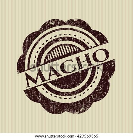 Macho grunge style stamp