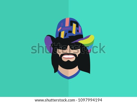 macho man randy flat art