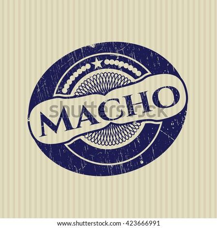 Macho rubber grunge stamp