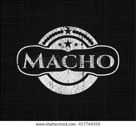 Macho with chalkboard texture