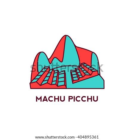 machu picchu in peru flat