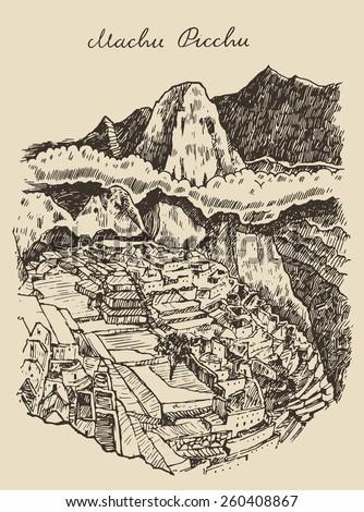 machu picchu landscape  peru