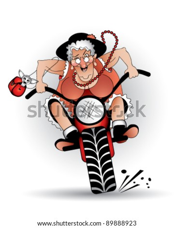 mad granny on a bike