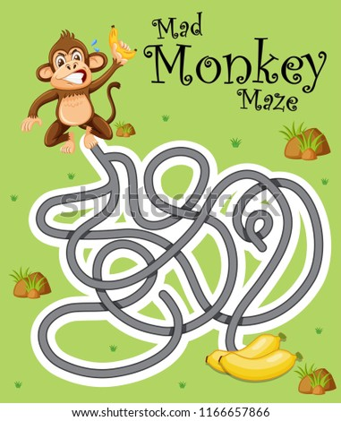 stock-vector-mad-monkey-finding-banana-illustration