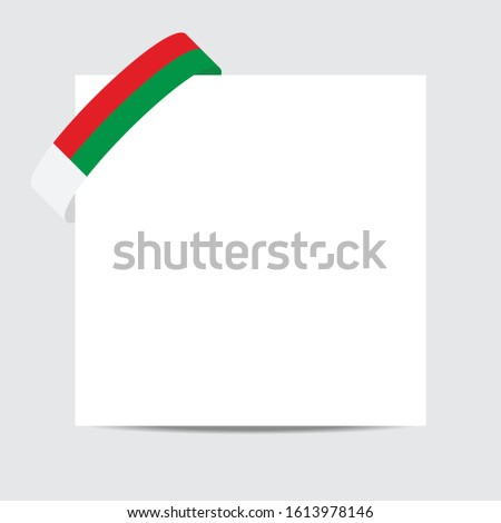 Madagascar  flag.  Madagascar   patriotic banner with space for text. Happy  Independent Day. Template of greeting card.