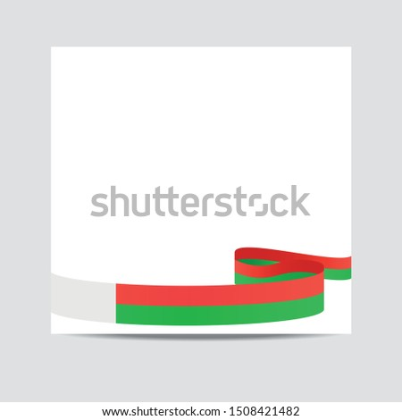 Madagascar  flag. Madagascar  patriotic banner with space for text. Happy Independent Day. Template of greeting card,
