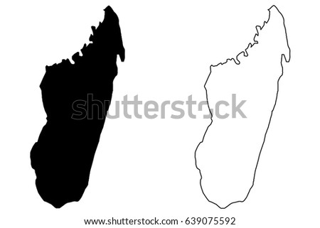 Free Vector Map Of Madagascar Free Vector Art At Vecteezy - Madagascar map outline