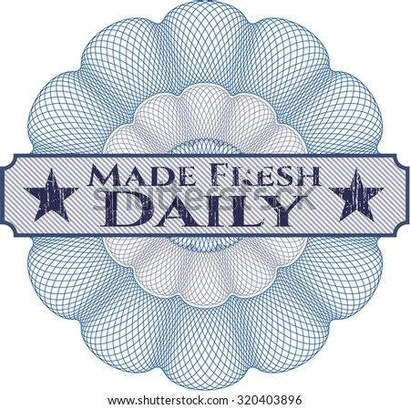Made Fresh Daily abstract linear rosette