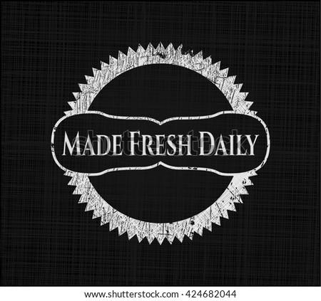 Made Fresh Daily chalk emblem